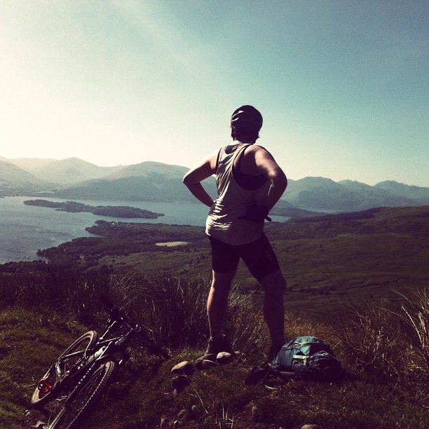 View from the top of Conic Hill and my favourite photo of the whole trip!
